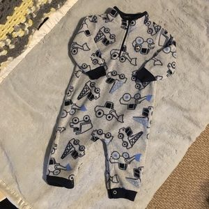 Carter's Pajamas - Fleece car pajama one piece sleeper